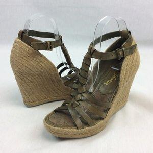 Sam Edelman Wedge Sandals Woven Heels Strappy Shoe